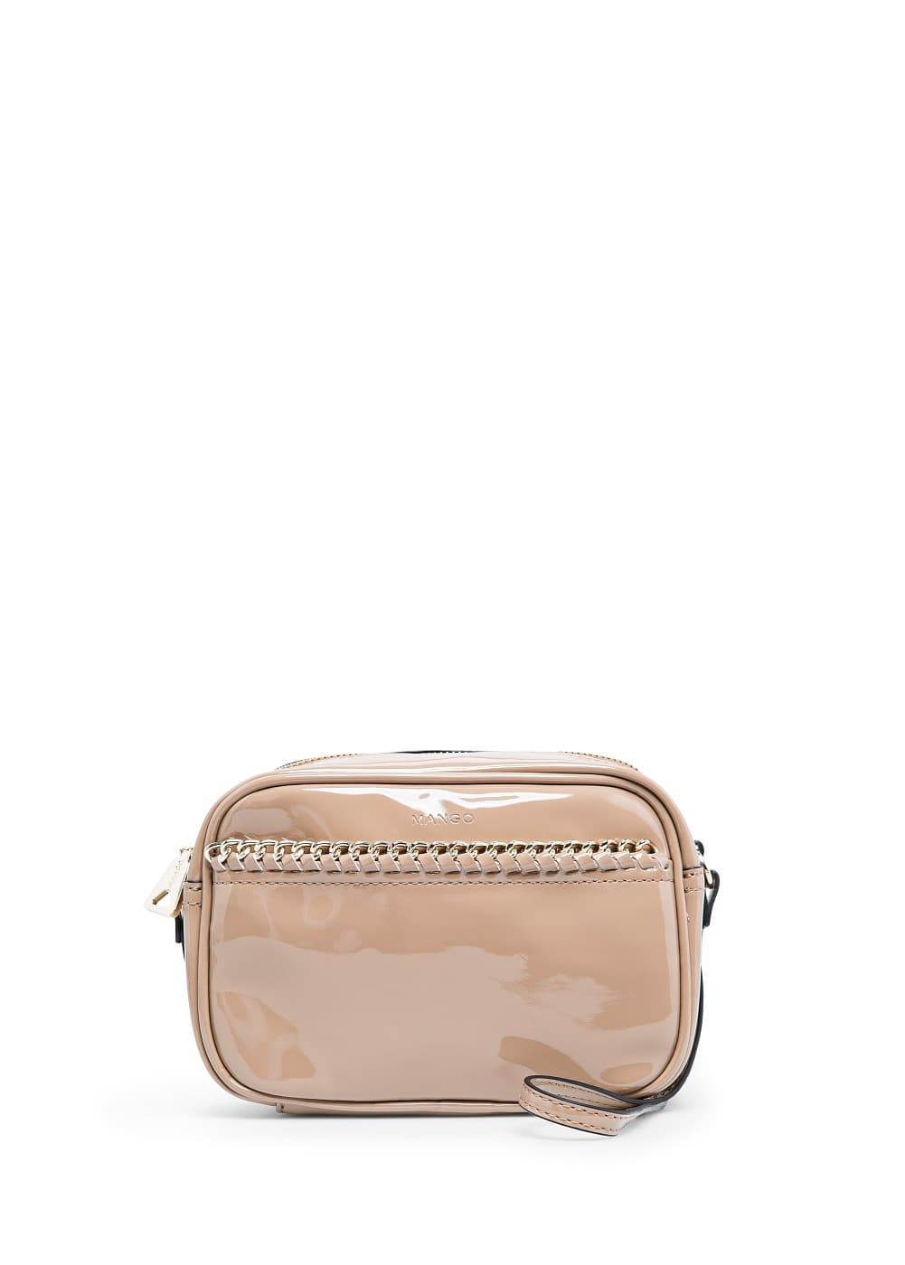 CHAIN PATENT SHOULDER BAG