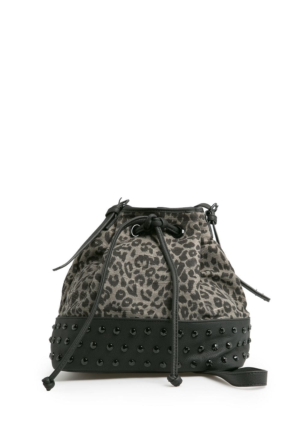 Leopard print bucket bag