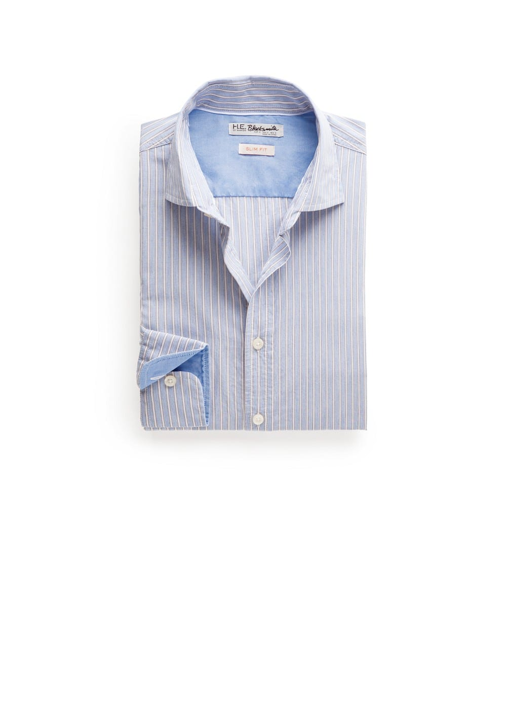 Slim-fit striped cotton shirt