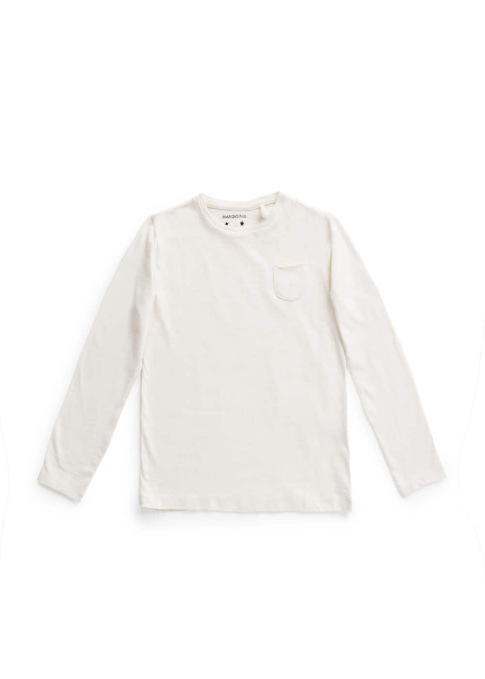 Pocket cotton t-shirt | MANGO KIDS