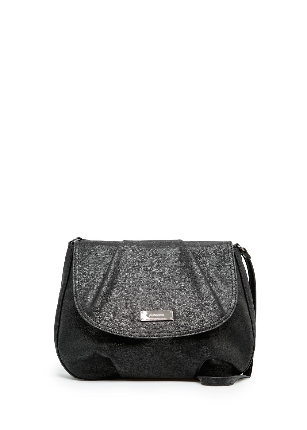 Pleated flap shoulder bag | MANGO
