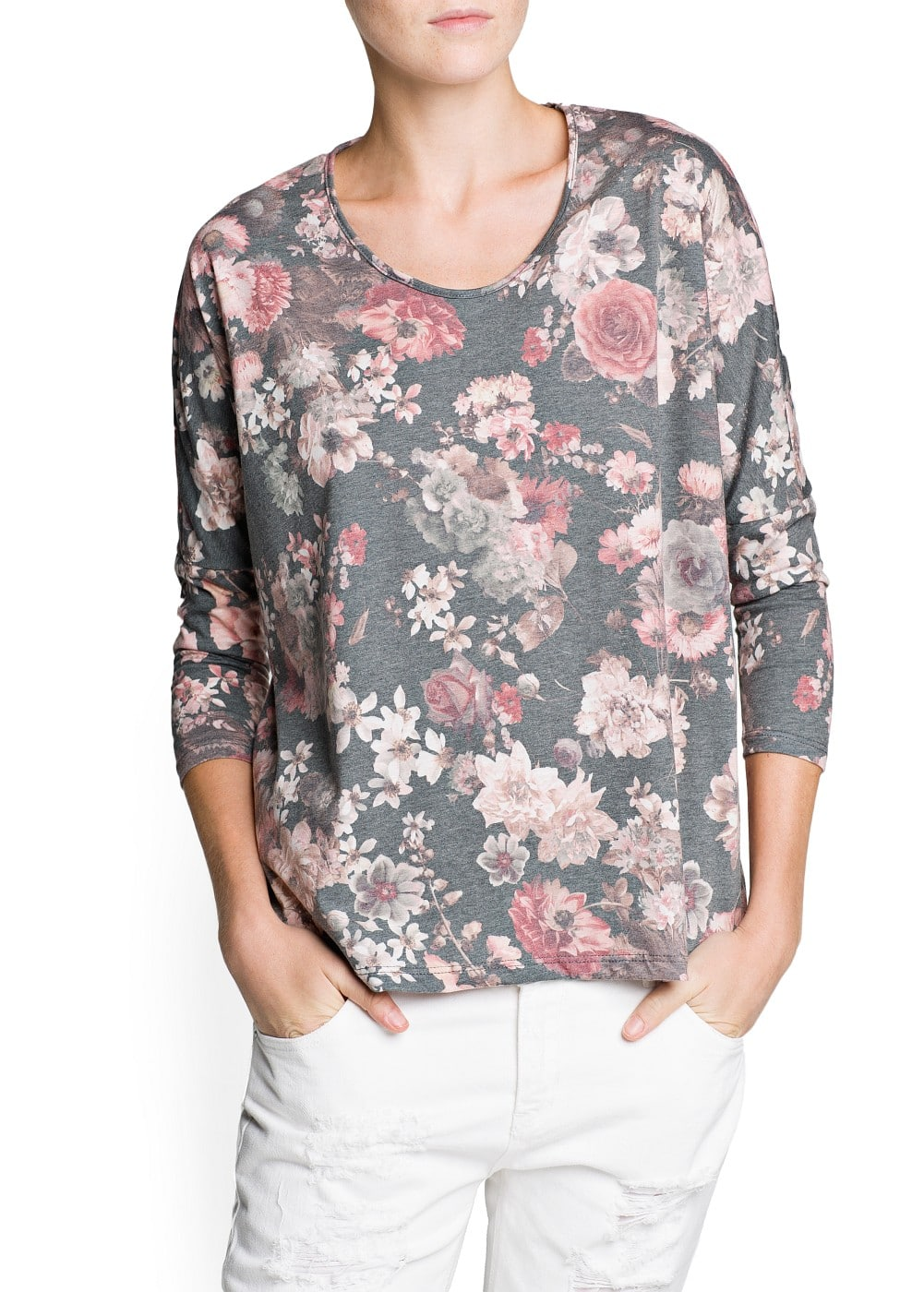 Floral print loose-fit t-shirt