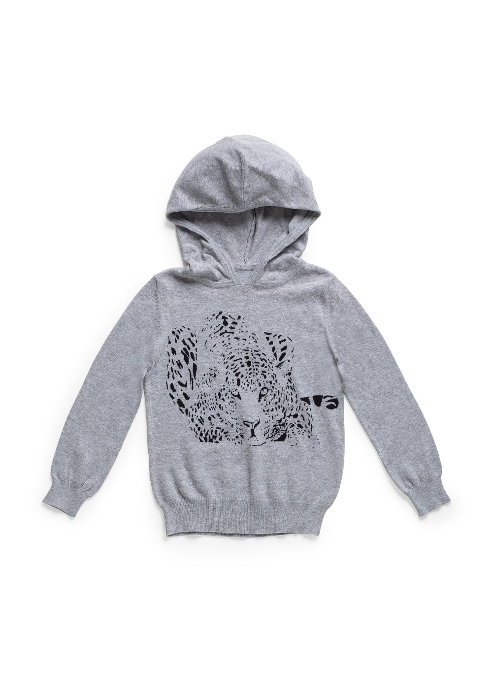 Leopard hooded sweater | MANGO KIDS