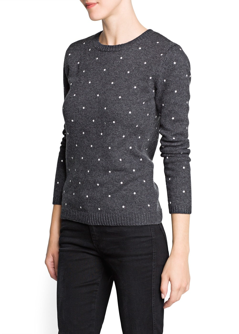 Star appliqué sweater