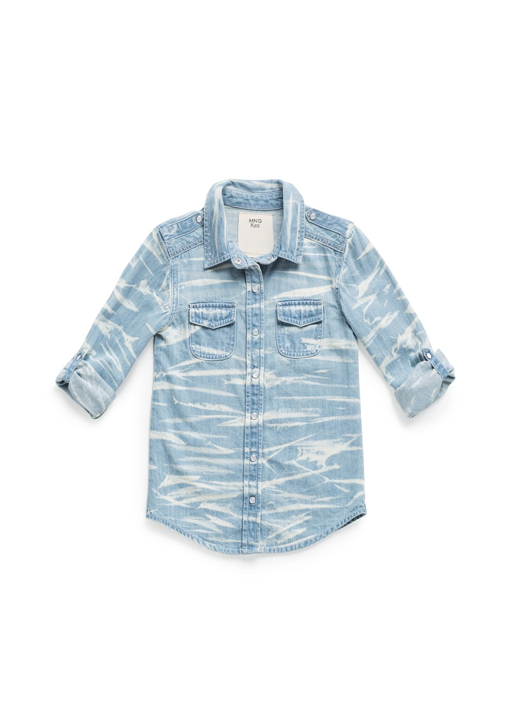 TIE-DYE EFFECT DENIM SHIRT