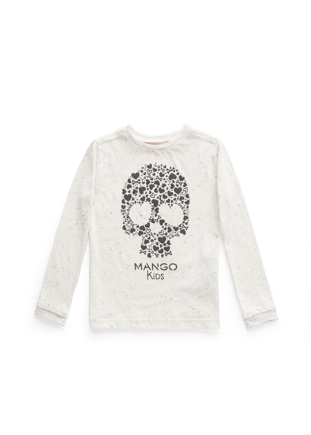 Skull flecked t-shirt | MANGO KIDS