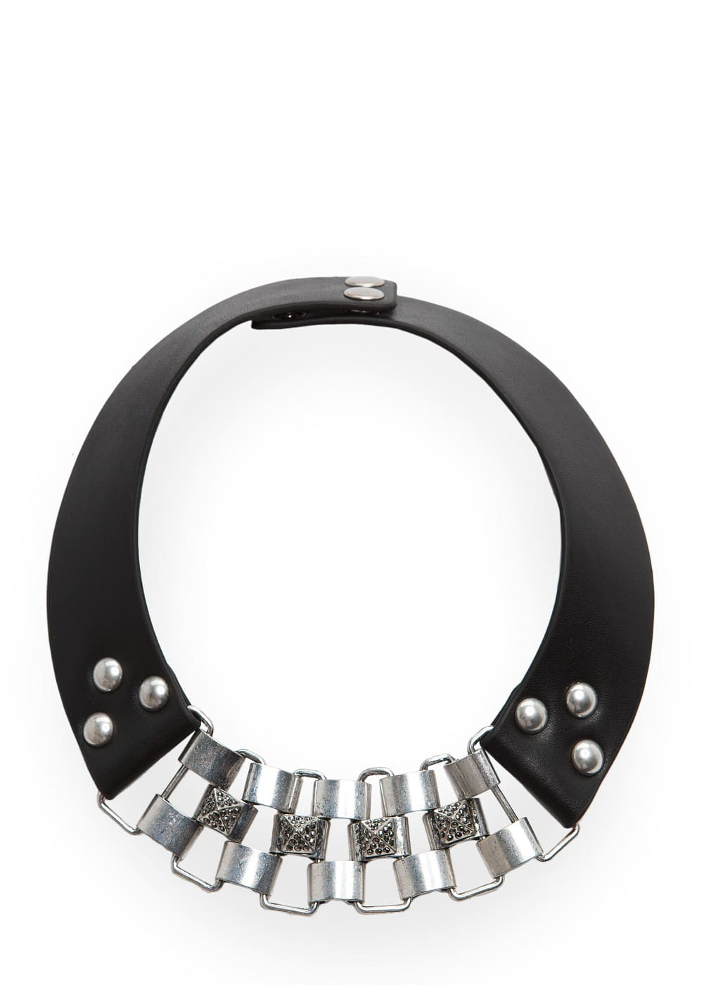 Studded faux leather choker