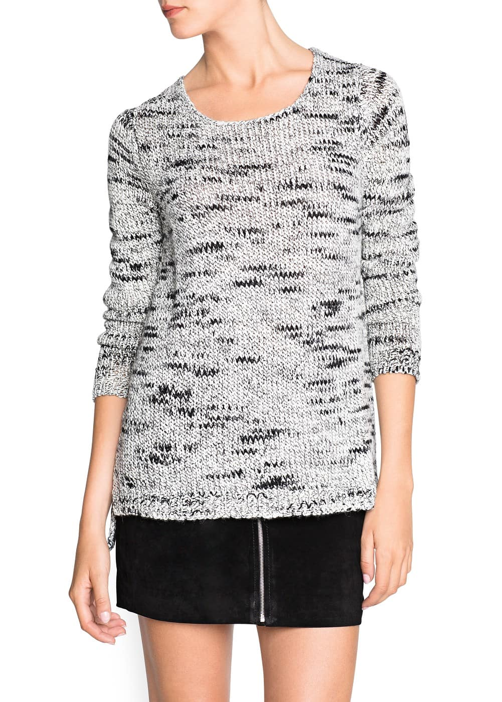 Chunky knit wool-blend sweater