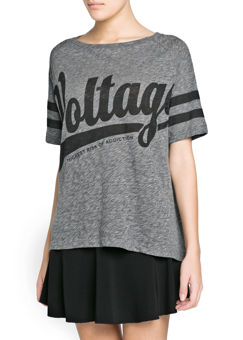 Voltage oversize t-shirt | MANGO