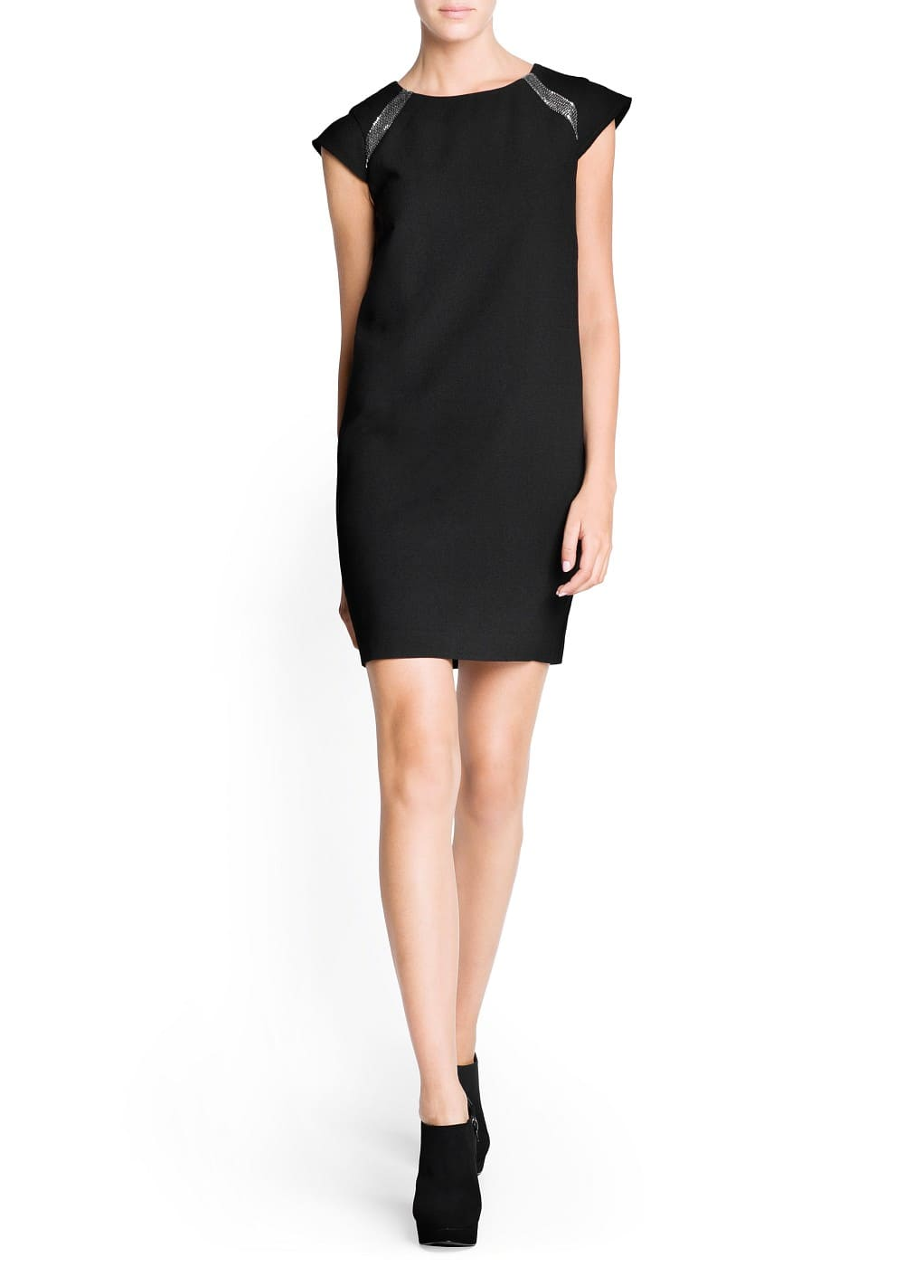 Metal appliqué crepé dress | MANGO