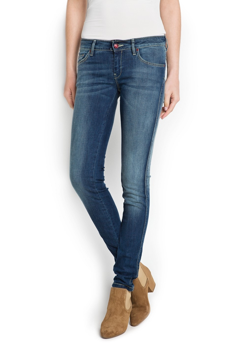 Slim-fit push-up vintage wash jeans | MANGO