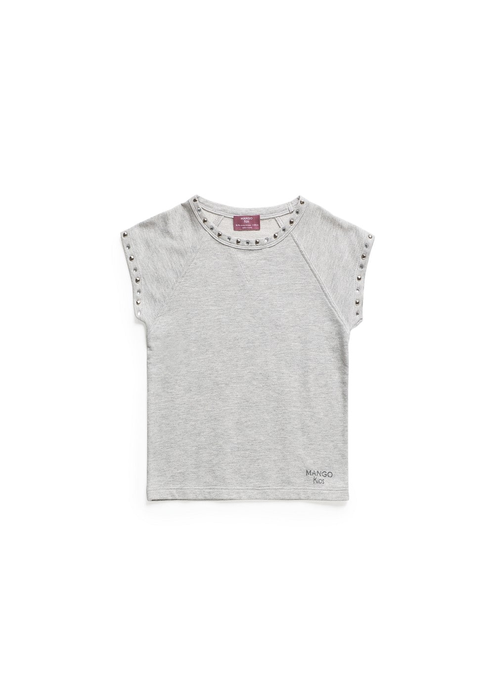 STUDDED FLECKED T-SHIRT