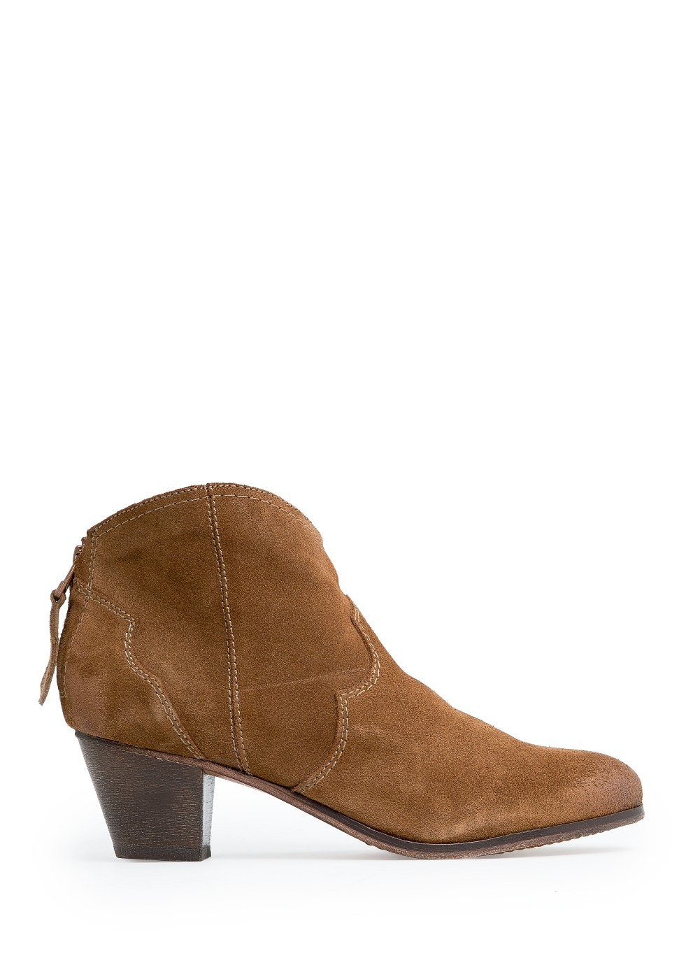 Cowboy suede ankle boots