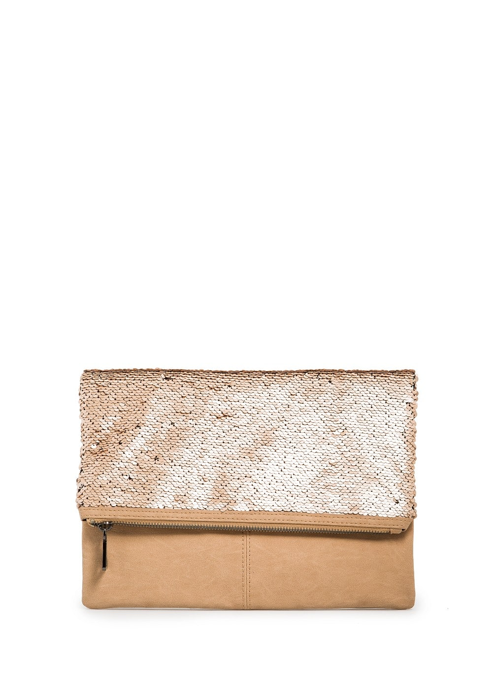 Sequined folded clutch | MANGO