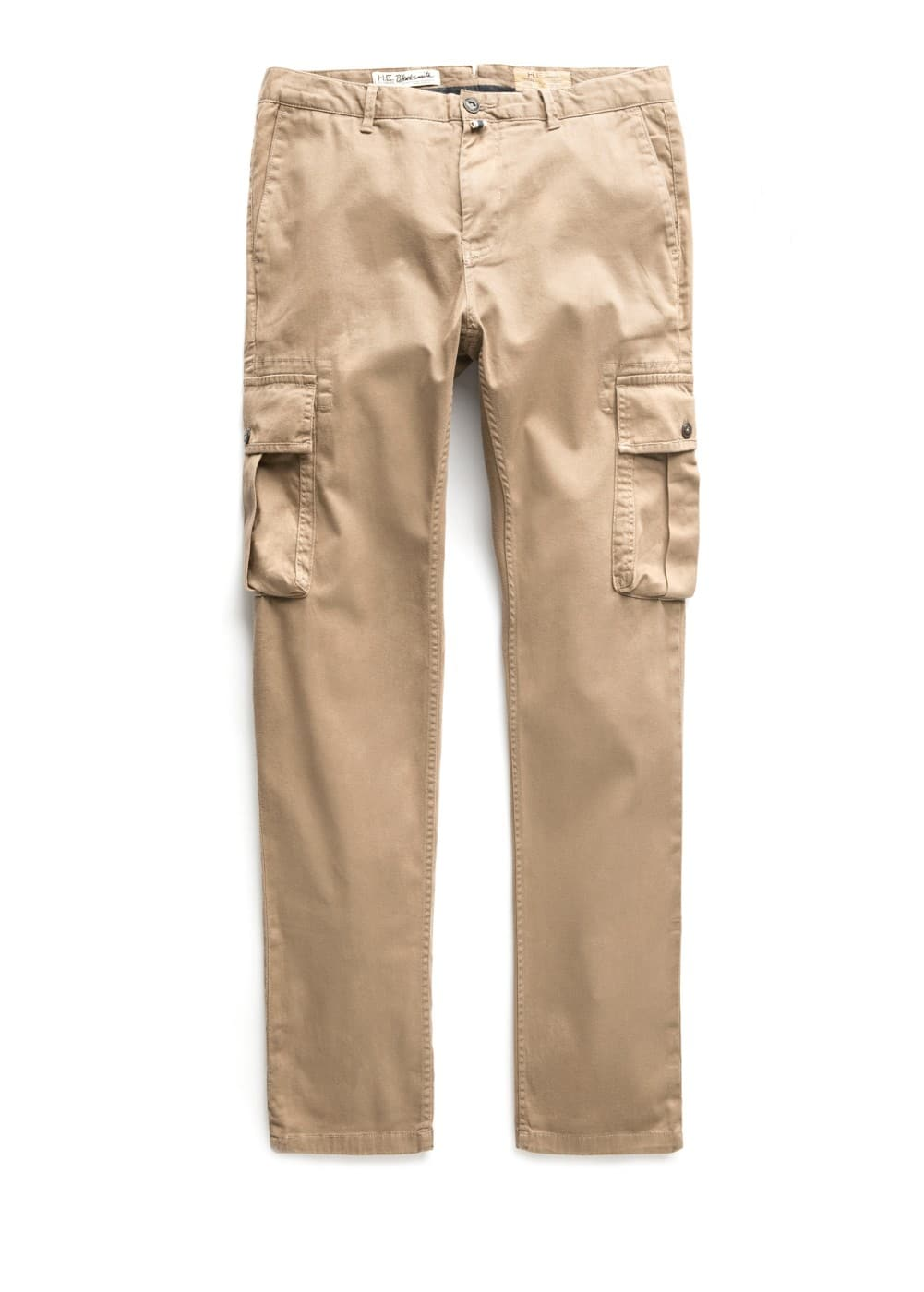 Slim-fit cotton cargo trousers