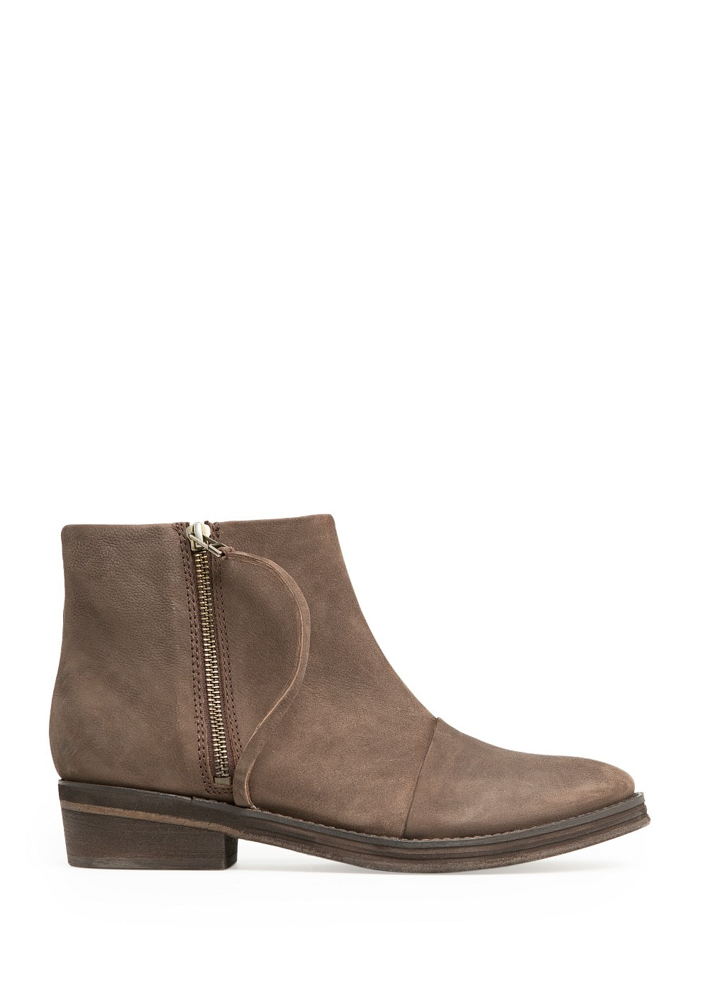 Zip leather ankle boots | MANGO