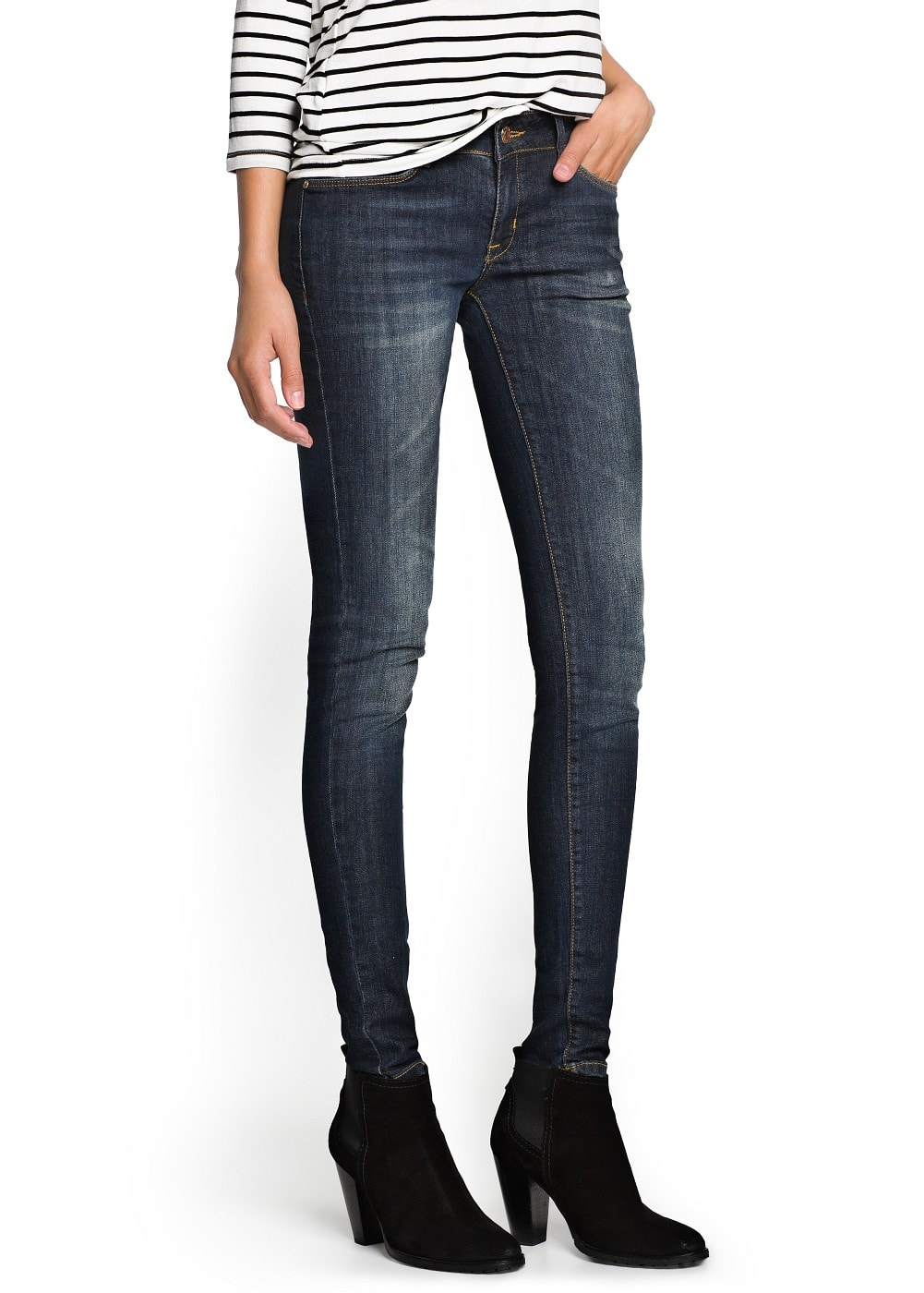 Super slim-fit distressed jeans