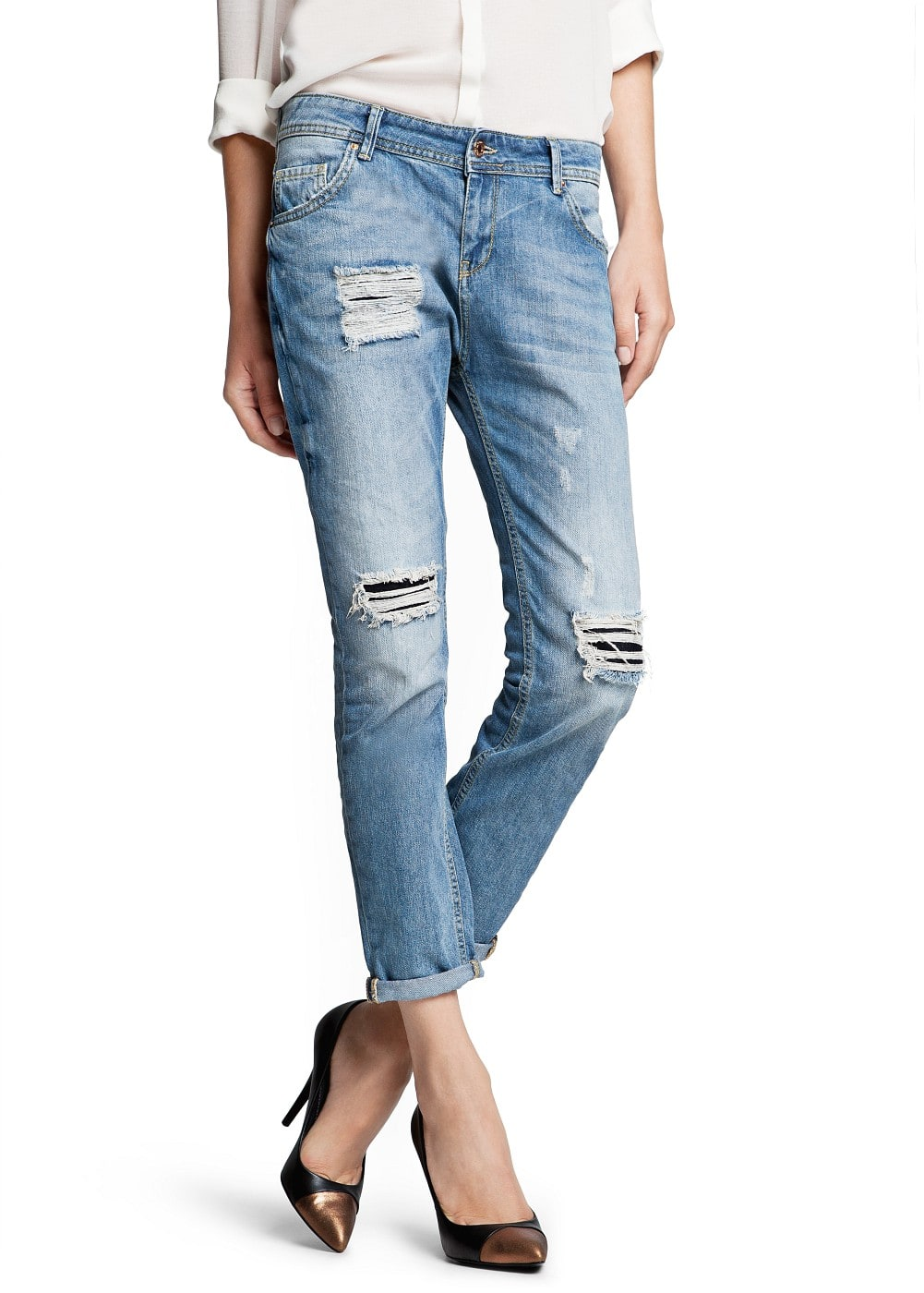 Medium wash boyfriend jeans | MANGO