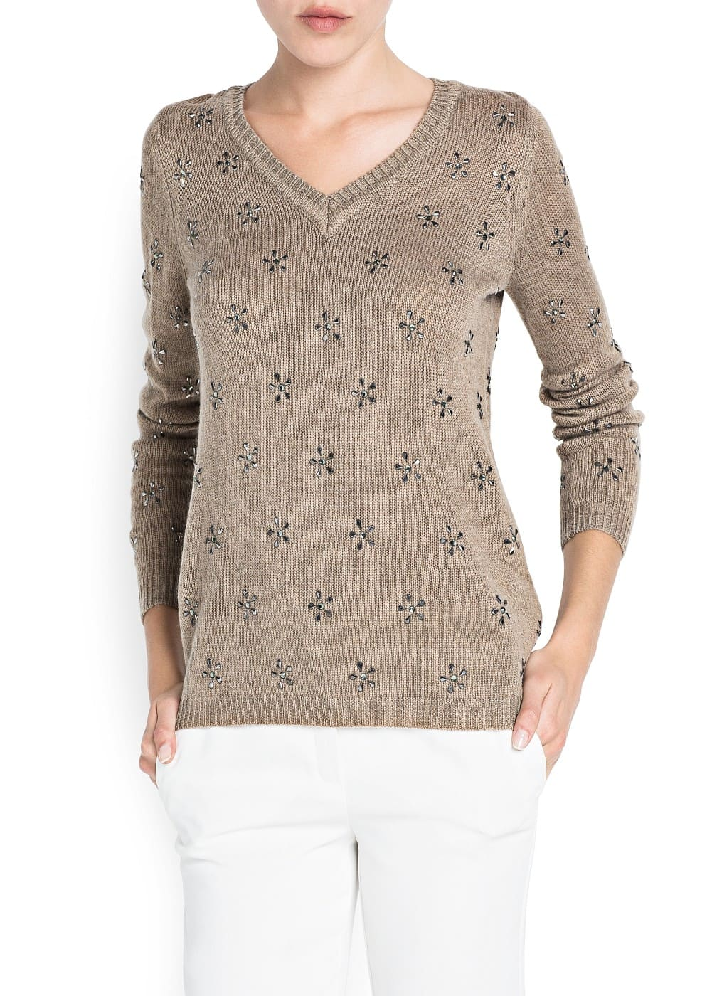 Crystal wool-blend sweater