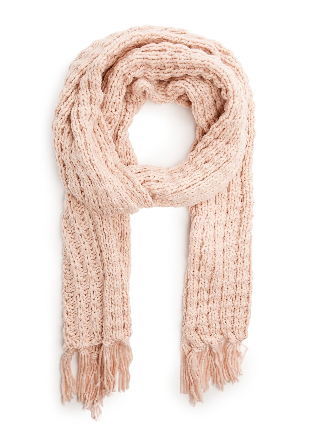 Metallic detail knit scarf | MANGO