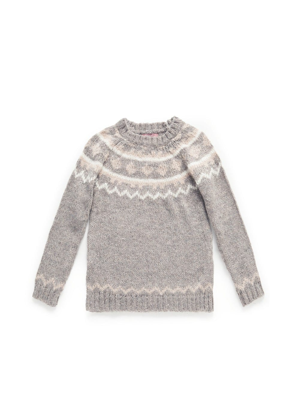 Fair isle mohair wool-blend sweater