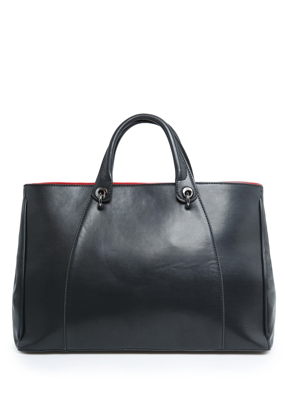 Contrasted interior tote bag