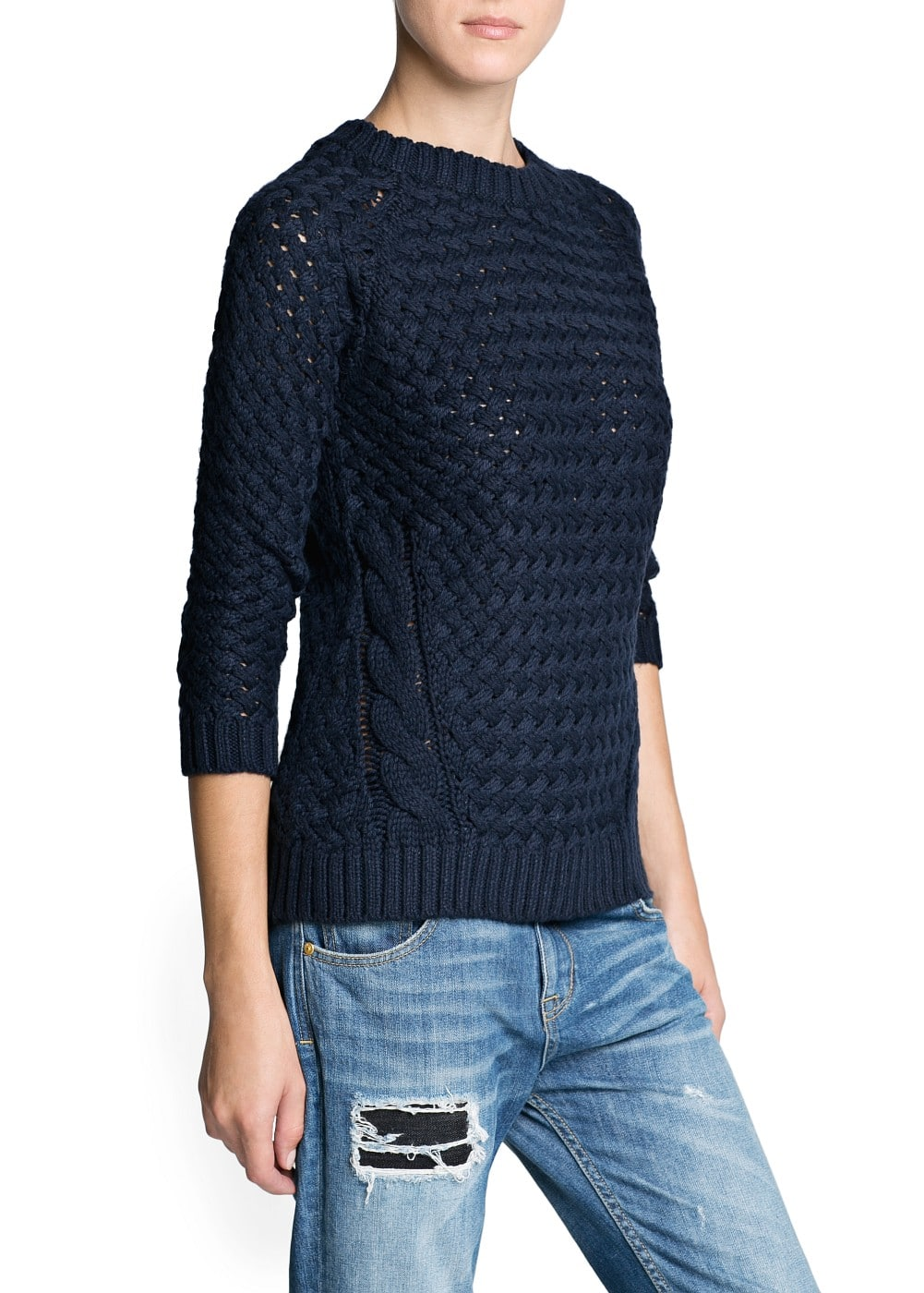Interwoven wool-blend sweater | MANGO