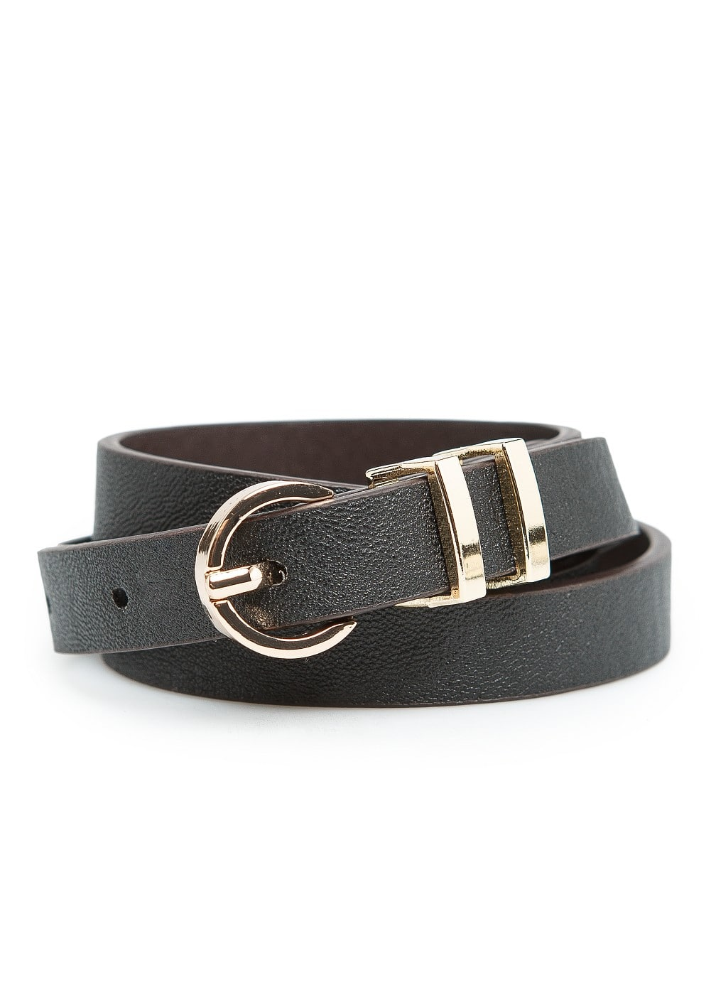Double keeper skinny belt