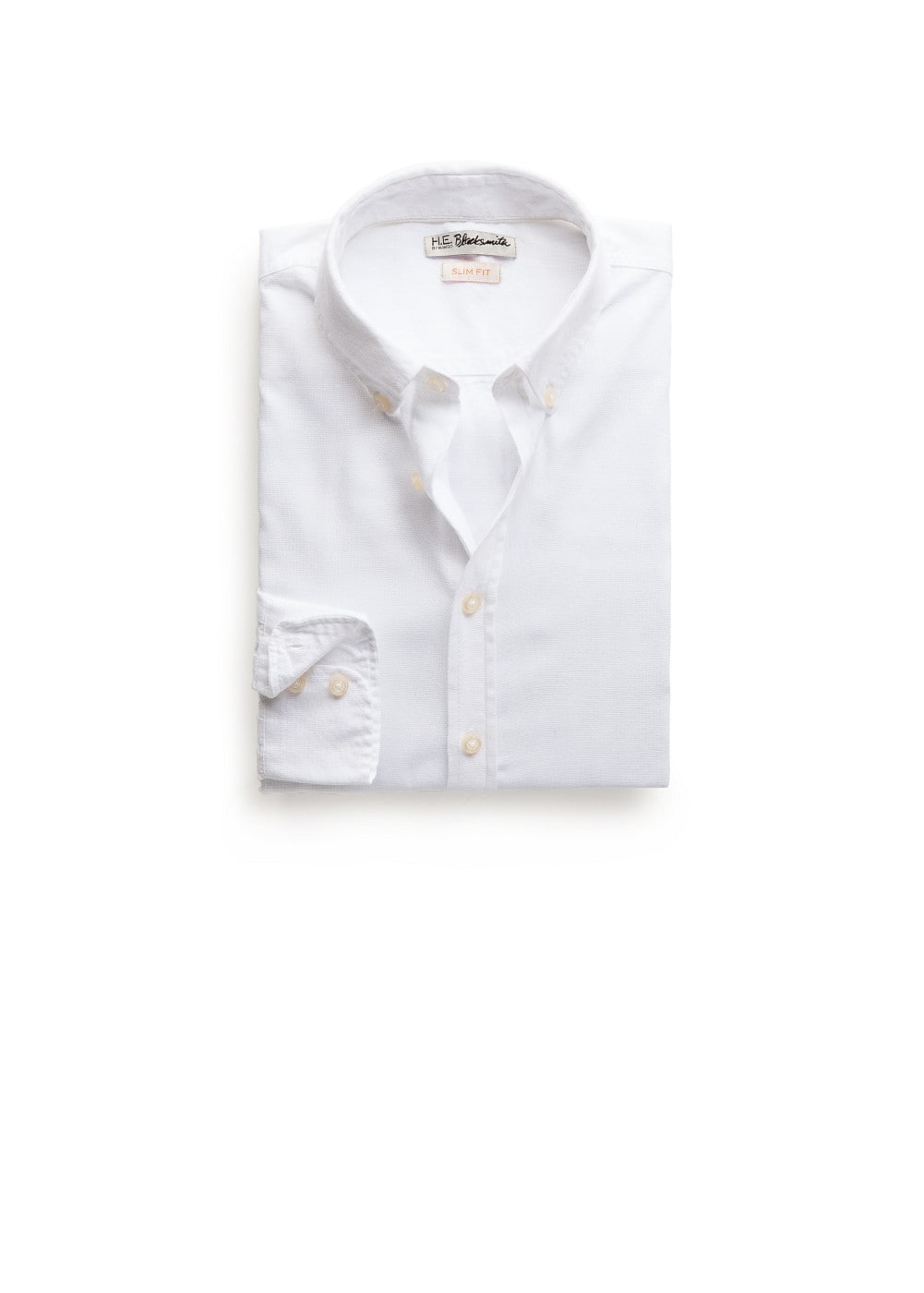 Slim-fit cotton piqué shirt