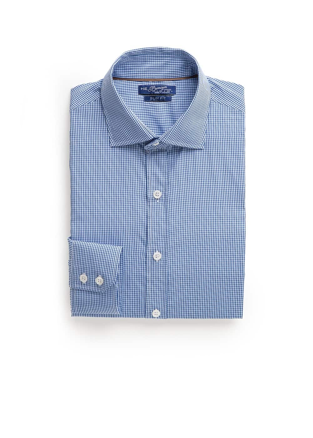 Slim Fit Hemd mit Gingham-Karo