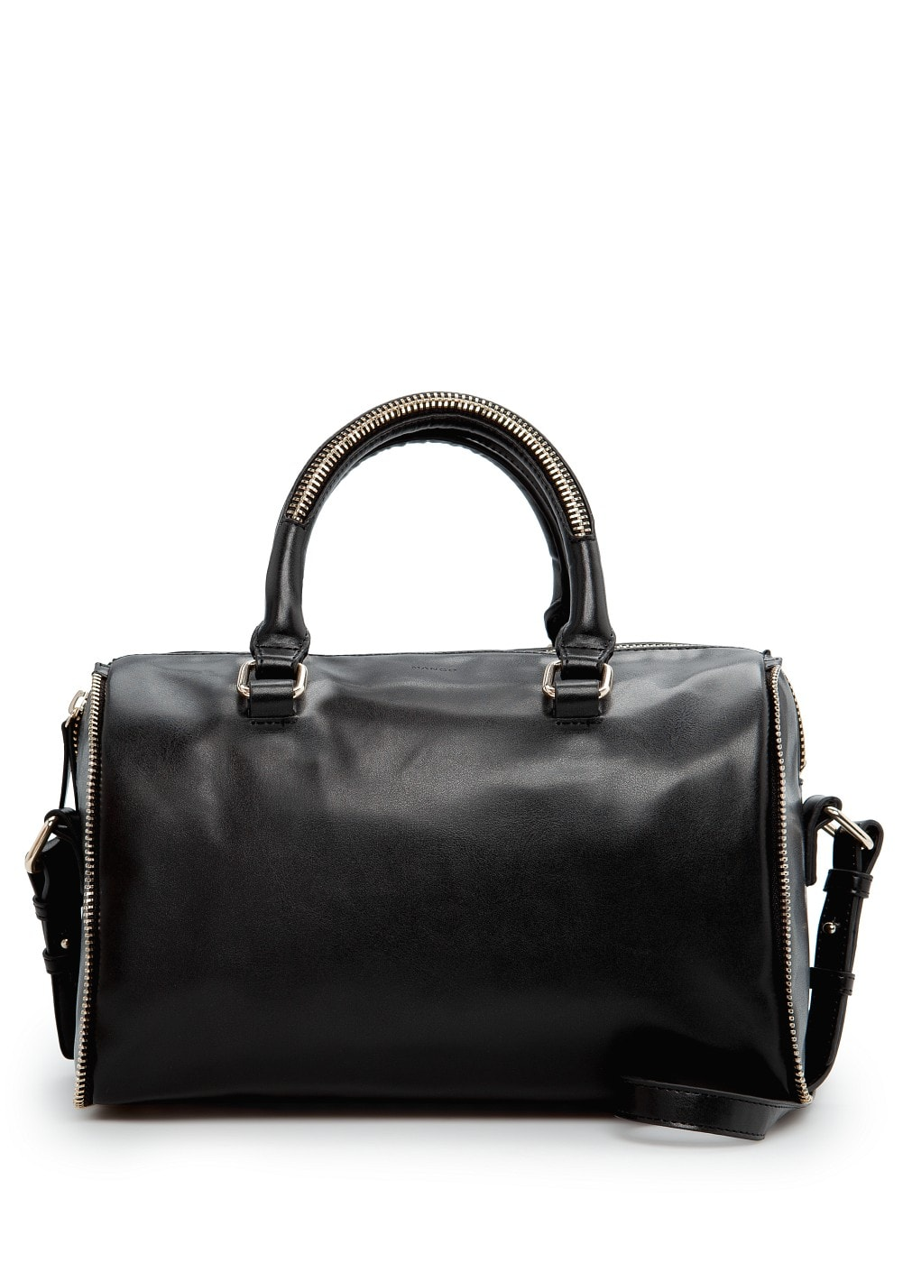 Zip detail bowling bag | MANGO
