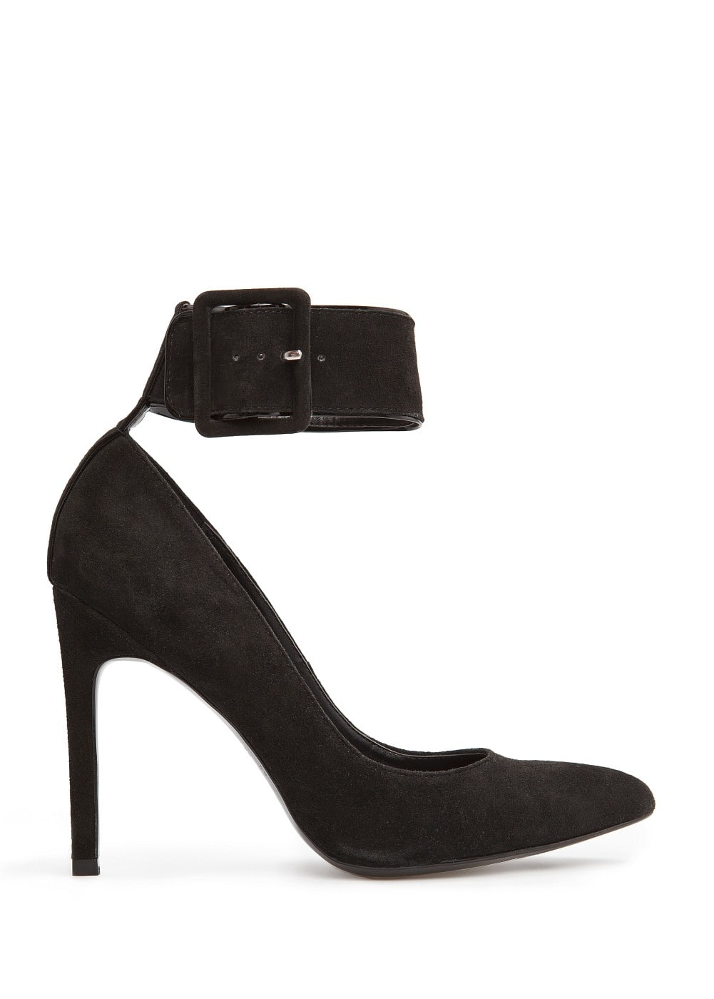 Ankle strap suede stiletto shoes | MANGO