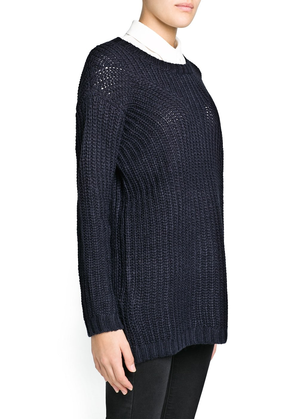 Mohair wool-blend sweater