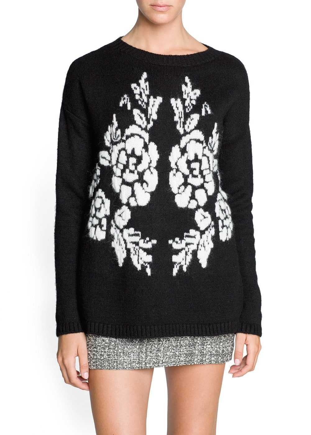 Jersey floral lana y mohair