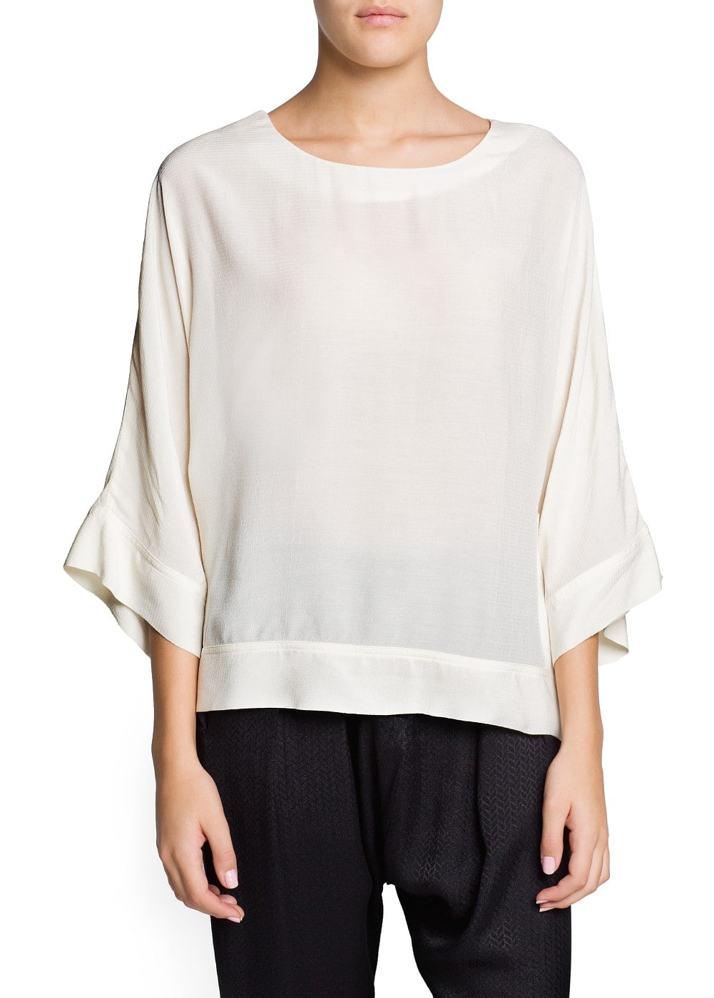 Dolman sleeve loose-fit blouse