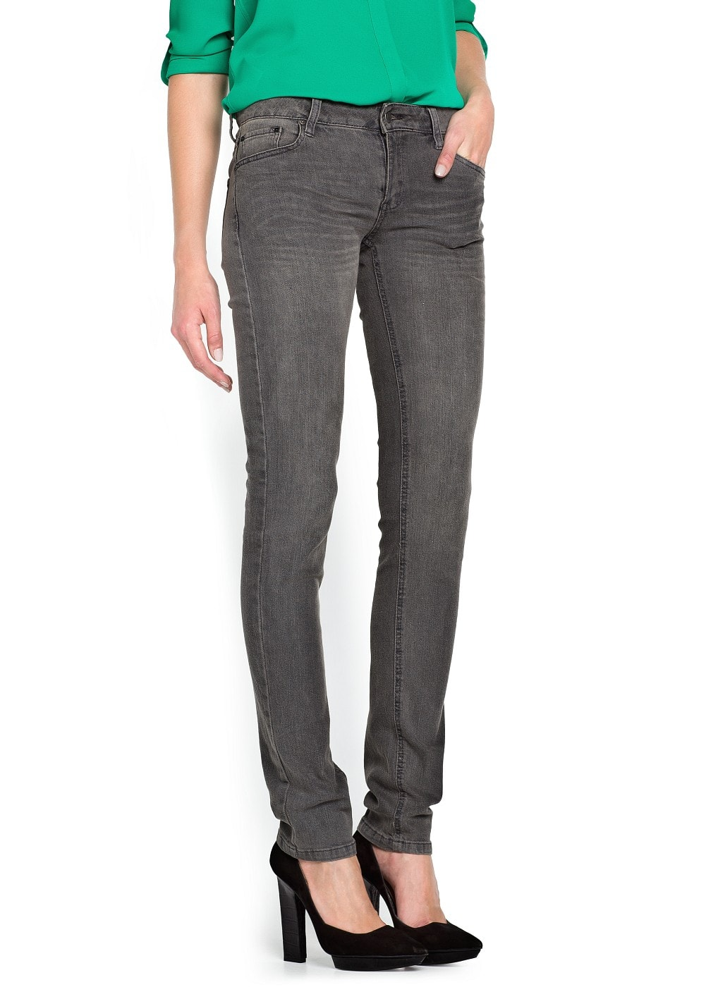 Slim-fit grey jeans | MANGO