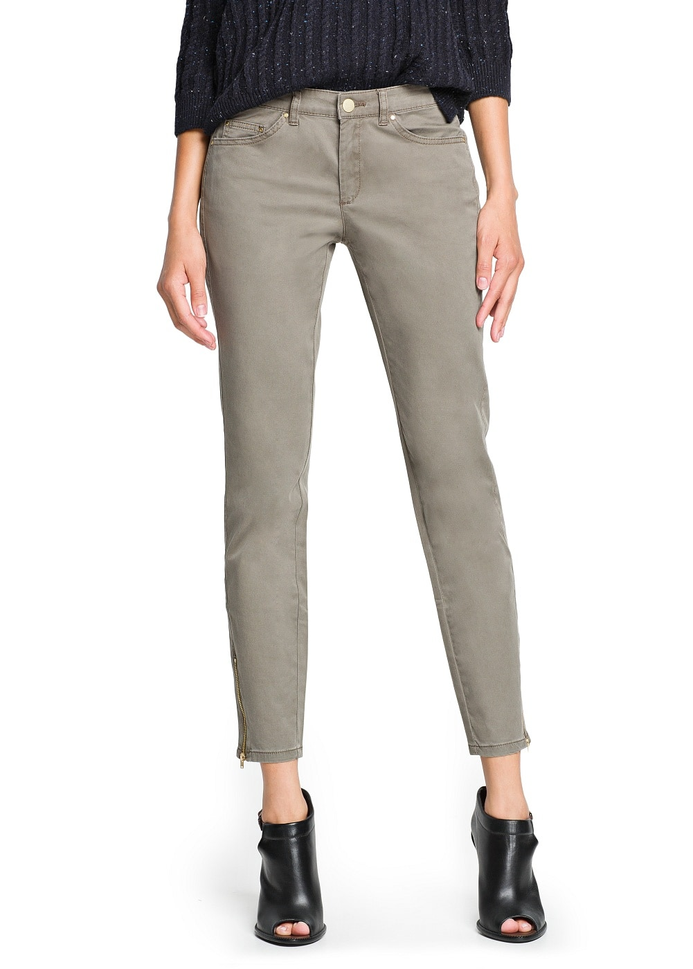 Slim-fit zipped trousers | MANGO