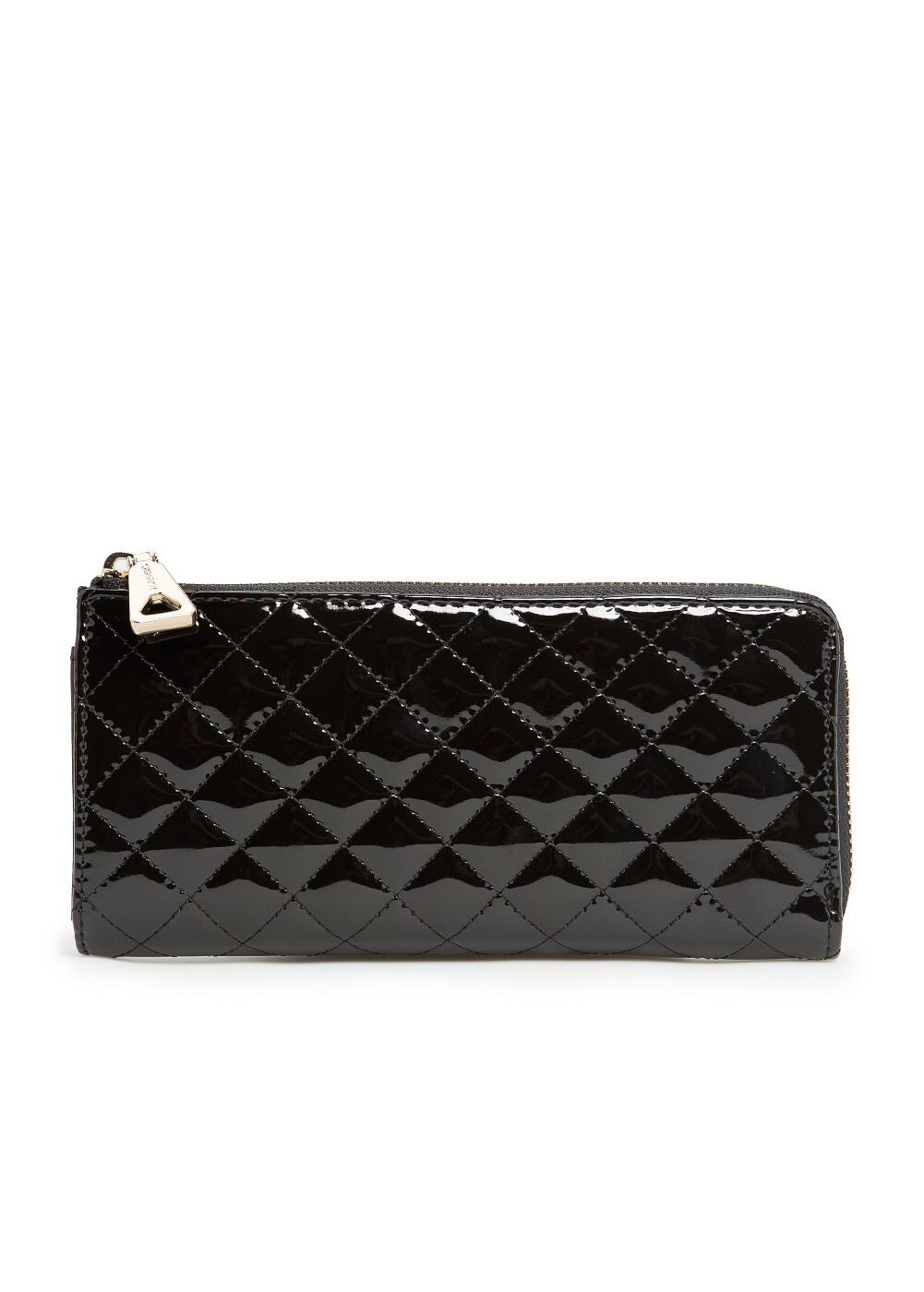QUILTED PATENT WALLET