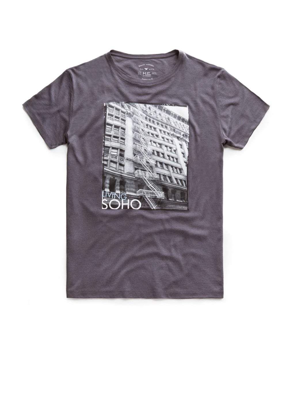 Living soho-print t-shirt | MANGO MAN