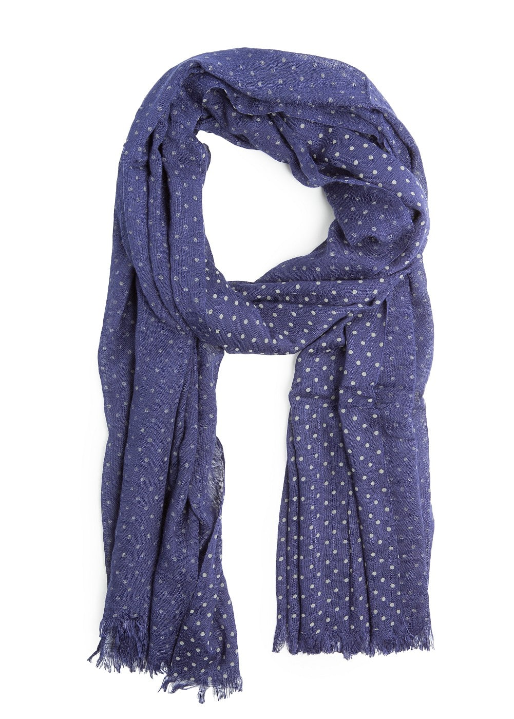 EMBOSSED POLKA-DOT FOULARD