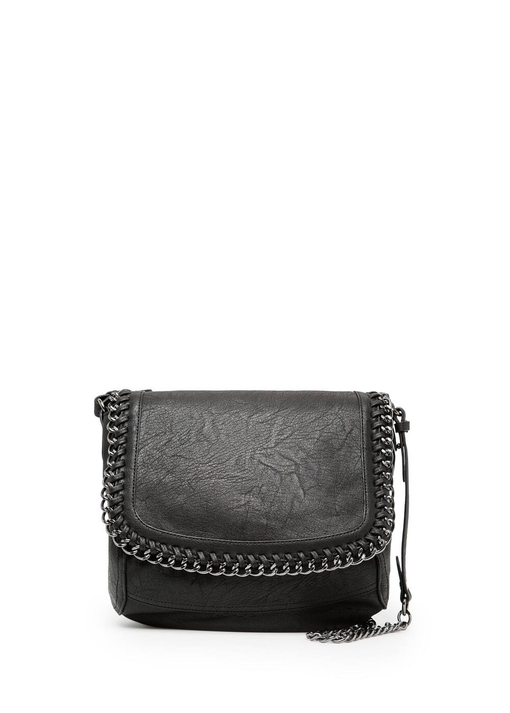 Chain edge shoulder bag