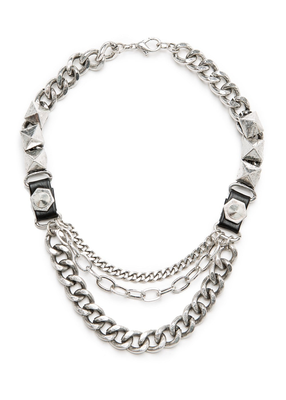 Punk style chain necklace | MANGO