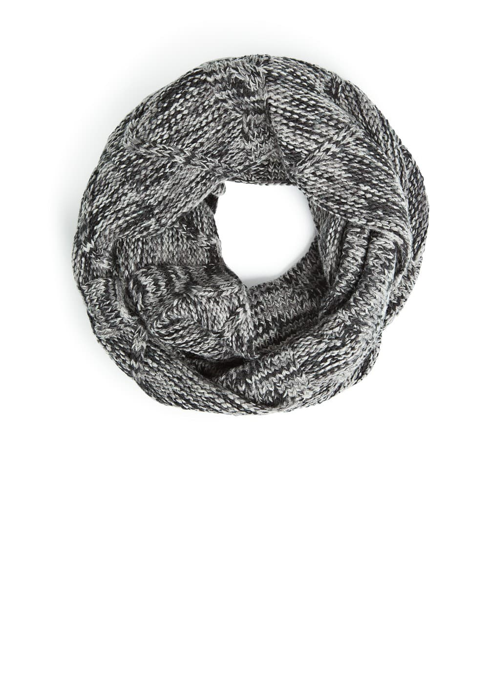 Flecked knit snood | MANGO