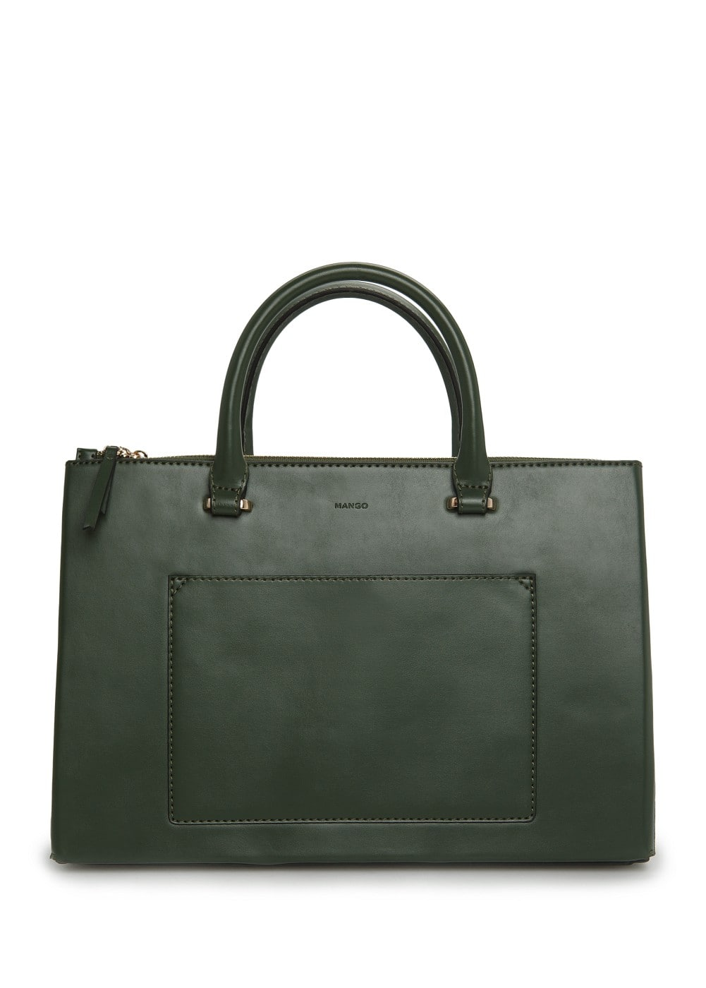 Metallic interior tote bag