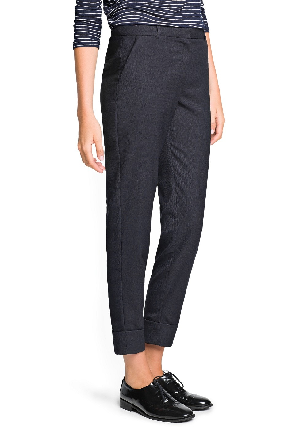Textured suit trousers