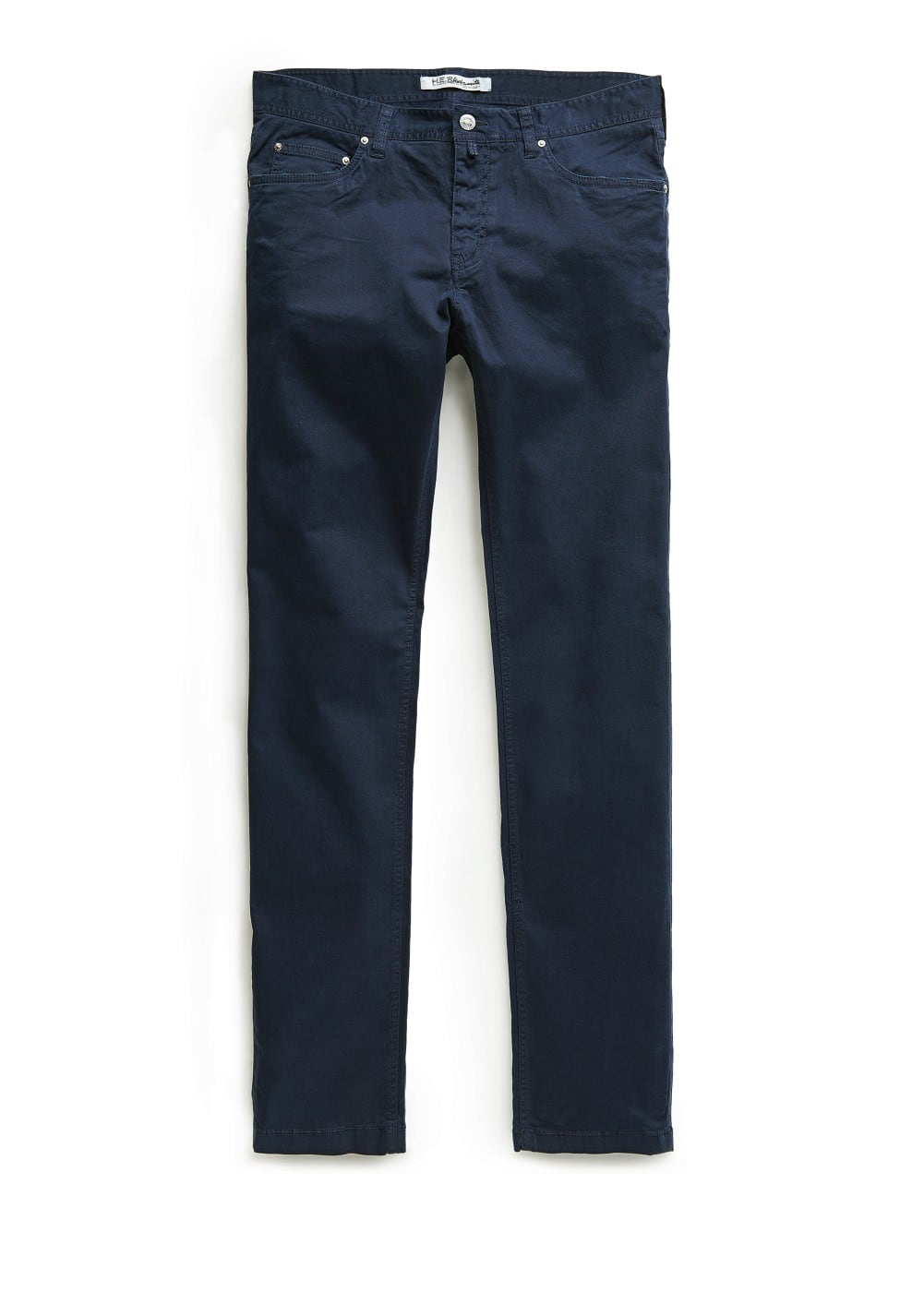 Slim-fit 5 pocket cotton trousers