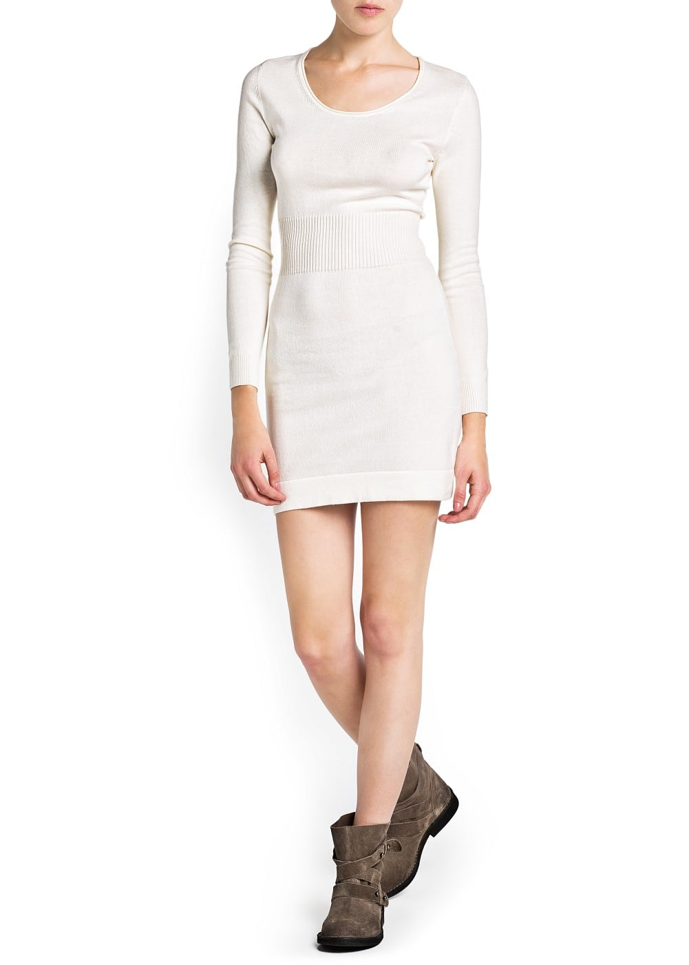 Cotton knit dress | MANGO