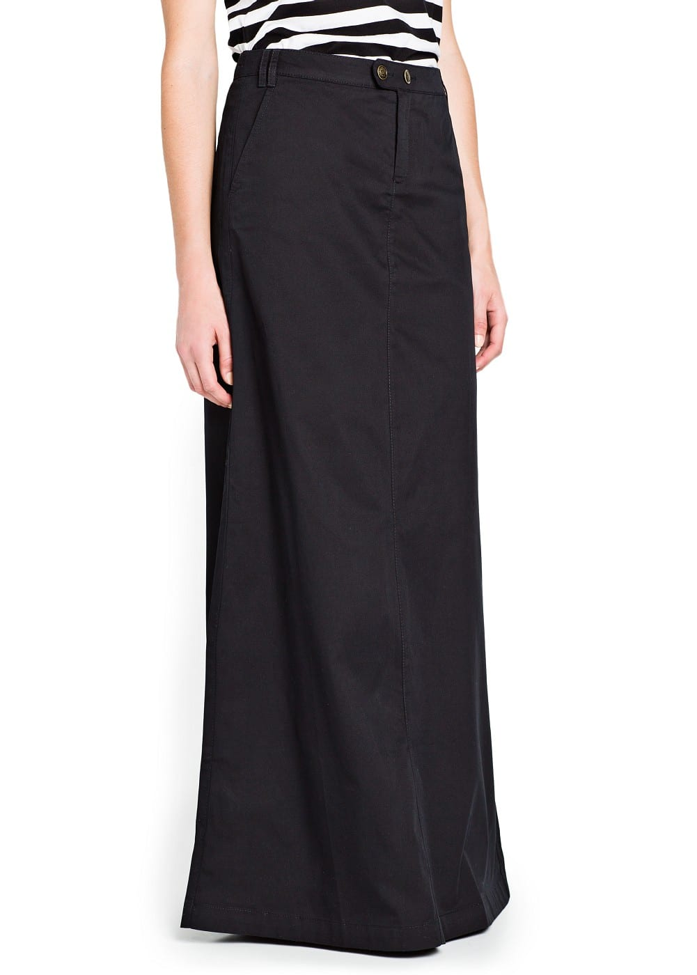 Flared cotton long skirt | MANGO