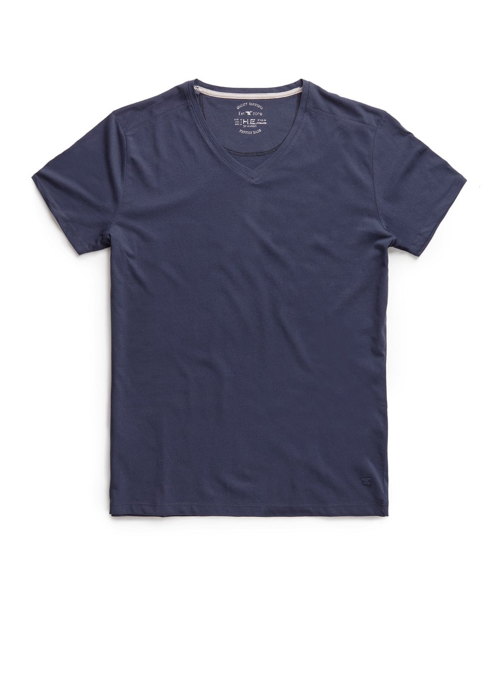 V-neck cotton t-shirt | MANGO MAN