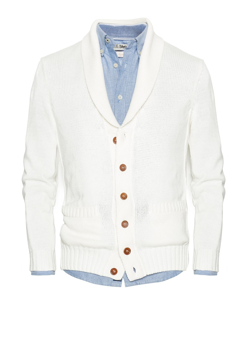 Shawl collar cotton cardigan | MANGO